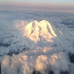 Flying over Mount Rainer... I hiked as high as you could without gear