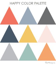 Kind of obsessed with the color combinations of coral, dusty blue, mint, orange, gray, navy, and the like. Something about these colors together is fresh, modern, and … well, just plain happy!