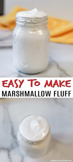 Don't let the idea of Homemade marshmallow fluff recipe scare you away. It is actually so easy and taste so much better than store bought. Don't let the idea of Homemade marshmallow fluff recipe scare you away. How To Make Marshmallows, Vegan Marshmallows, Homemade Marshmallows, Marshmallow Frosting Recipes, Homemade Marshmallow Fluff, Marshmallow Treats, Chewy Peanut Butter Cookies, Peanut Butter Sandwich, Original Fantasy Fudge Recipe