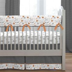 Gray Fox Crib Bedding