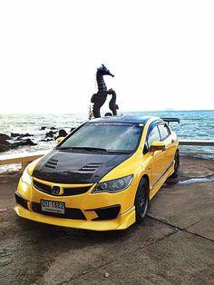 Civic fd Toyota Vios, Honda Civic Si, Honda Cars, Japan Cars, Import Cars, Olay, Art Cars, Jdm, Dream Cars