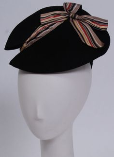 Debbie Harry Vintage Collection 40's Hat | From a collection of rare vintage hats at http://www.1stdibs.com/fashion/accessories/hats/