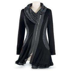 Black Shawl Cowl Tunic