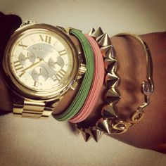 MK watch and arm candy