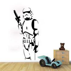 DIY Star Wars Character Wall Stickers