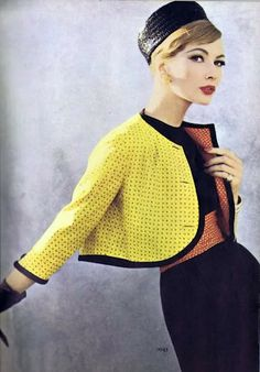 Vogue 1948, cropped neon jacket, niceeee