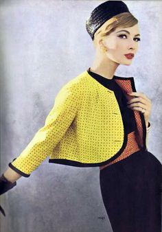 Vogue 1948, cropped neon jacket, niceeee
