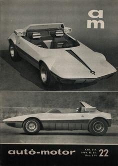 1969 Autobianchi Runabout (Bertone). Autó-Motor, 1969. XI. 21.
