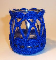 Free Web Hosting - Your Website need to be migrated Tin Can Crafts, Diy And Crafts, Primitive Mason Jars, Candle Jars, Candle Holders, Crochet Cozy, Bottle Cover, Recycled Bottles, Tea Lights