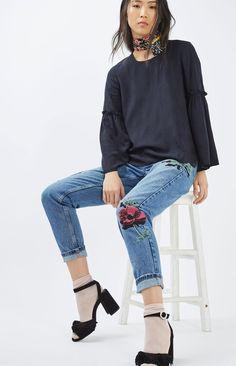 MOTO Floral Mom Jeans