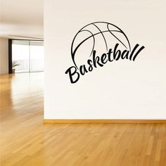 Wall Vinyl Sticker Decals Decor Basketball Ball Basket Sport Word Sign QUote (z2782) on Etsy, $28.99