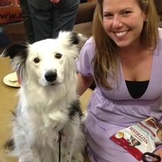 Here's Paige and her mom Lauren at #BlogPaws