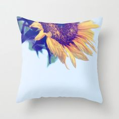 "Pillow Cover ""And Keep You Always (color)"",Home Decor,Bedroom,Living Room,Throw Pillow, Flower, Petals, Photo, Photography,Sunflower, Dreamy..."