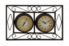 Distressed Metal Wall Clock