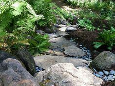 dry creek bed garden design | ... the concept of a dry creek bed? - Landscape Design Forum - GardenWeb