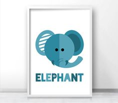 Elephant Nursery Print Animal Nursery Print Kids by LimitationFree