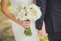Black, white and gold wedding...Via Garden Gate Florals in Orlando. Sunglow Photography. #whitebouquets