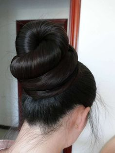 Super long ponytail made to huge bun ,,photo,China Long Hair Bun Hairstyles For Long Hair, Straight Hairstyles, Long Hair Cuts, Long Hair Styles, Long Indian Hair, Bridal Hair Buns, Peinados Pin Up, Long Ponytails, Super Long Hair