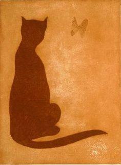 Charles Blackman - Japanese Cat