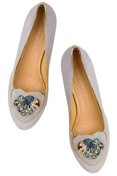 Charlotte Olympia zodiac flat this one is names Aquarius.  Love Charlotte Olympia shoe certain stores like Neiman Marcus and find her shoes going up to size 12!!!!!!