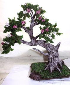 Bonsai Beaded Tree by WoolArtToys.deviantart.com on @DeviantArt