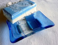 Periwinkle Blue Glass Soap Dish @Brittany Robertson (knewlywifed) Designs
