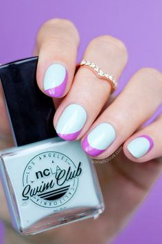 Summer nails with NCLA Take A Dip. #mint #nails #summer