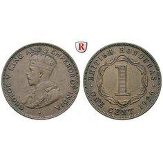Britisch-Honduras, George V., Cent 1911, vz: George V. 1910-1936. Bronze-Cent 1911. KM 19; vorzüglich 30,00€ #coins