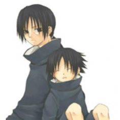 Sasuke and Itachi at a young age | Digital Scrapbooking at Scrapbook... ❤ liked on Polyvore featuring naruto and anime