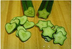 how to grow shaped cucumbers. How fun would these be in a salad or in a jar of pickles!