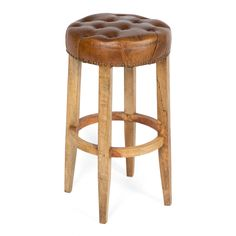Manhattan Leather Bar Stool from The Shelley Panton Store