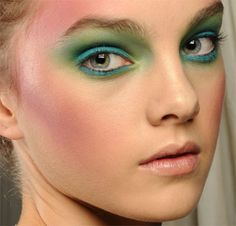 We love this Vivienne Westwood Red Label 'green' makeup