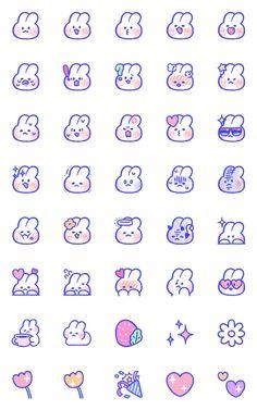 몽글이 몽몽 , lovely mongmong emoji – LINE 이모티콘 | LINE STORE Cute Small Drawings, Mini Drawings, Kawaii Drawings, Stickers Kawaii, Cute Stickers, Kawaii Doodles, Cute Doodles, Cute Doodle Art, Cute Art