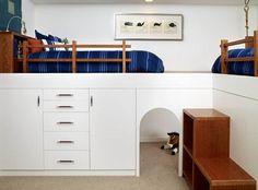 I would love to be able to raise up G's bed to give him a secret play space beneath.