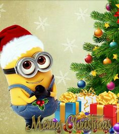 Merry Christmas With Minions – Image Library Merry Christmas Minions, Christmas Cartoons, Merry Xmas, Christmas Art, Christmas Humor, Christmas Holidays, Cute Minions, Minions Despicable Me, Funny Minion