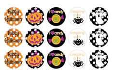 Free Halloween BottleCap Images
