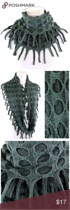 "B4 Textured Layered Green Dual Knit Infinity Scarf ‼️ PRICE FIRM UNLESS BUNDLED WITH OTHER ITEMS FROM MY CLOSET ‼️    Fun & trendy!  65% cotton, 35% polyester.  Dress up even the most basic outfit!  Please check my closet for many more fashion items.  18"" long  15"" wide Accessories Scarves & Wraps"