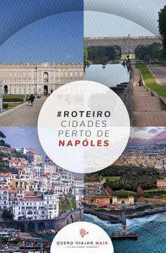 Cidades perto de Nápoles: veja as cidades turisticas no mapa da região de Campania, na Italia. O que fazer nos arredores de Nápoles, como Pompeia e Salerno. Positano, Disneyland, Ferry, Eurotrip, Blog, Travel Tips, Pompeii, Roman Empire, Travel Photos