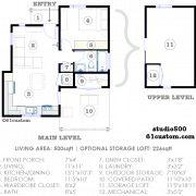 Studio500: Modern Tiny House Plan