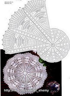 Tina's handicraft : 13 designs &pattern for doiles Irish Crochet Patterns, Crochet Doily Diagram, Crochet Chart, Thread Crochet, Filet Crochet, Crochet Motif, Crochet Designs, Dreamcatcher Crochet, Caron Yarn