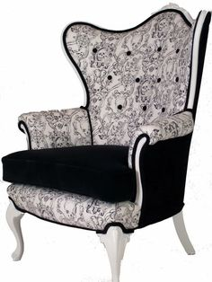 Check out the skulls upholstery