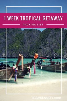 What would be your packing list for a 1 week tropical getaway? I share what I've packed on similar trips, explaining my choices.