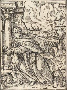 Hans Holbein, The Dance of Death (Danse Macabre), Woodcut from between 1522 and 1538 Robert Campin, La Danse Macabre, Renaissance, Hans Holbein The Younger, Halloween Dance, Dance Of Death, Medieval Paintings, Unusual Art, Vanitas