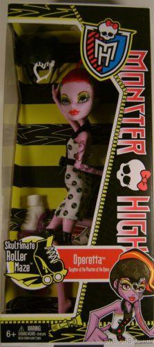 """Mattel Monster High Doll Operetta Skultimate Roller Maze Dress Helmet Skates 10"""""""