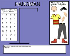 Hangman Game - This Smart Notebook file has everything you need to play hangman. All you need are the words to be guessed. Resource type: SMART Notebook lesson Subject: History, Health and Physical Education, Science, Geography, Cross-curricular, Mathematics, English Language Arts, Social Studies Grade: Kindergarten, Grade 1, Grade 2, Grade 3, Grade 4, Grade 5, Grade 6, Grade 7, Grade 8, Grade 9, Grade 10, Grade 11, Grade 12