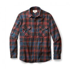 4665e138433ae Filson Cascade Flannel Shirt | Orange Plaid Flannel, Mens Flannel Shirt, Men  Shirt,