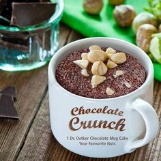 Add a touch of European flair to your freshly-made chocolate mug cake by topping it with the delicate flavour of hazelnuts. Use #OwnYourSweetTooth to tell us your favourite nut for giving dessert a little custom crunch.