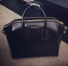 OBSESSED (Givenchy Antigona Small Sugar Goatskin Satchel Bag, Black)