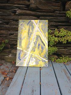DIY art canvas Used piece of scrap wood
