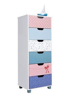 Commode 6 tiroirs type semainier elefanbulle b b blanc casse vertbaudet en - Commode enfant fille ...